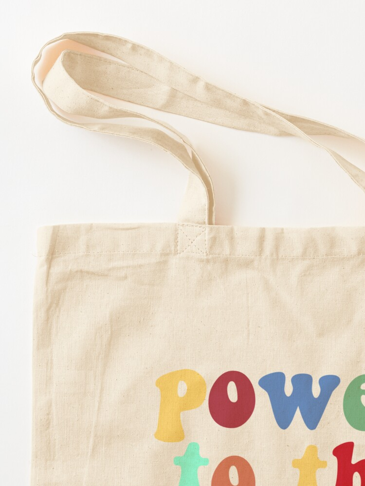 Alternate view of power to the people (rainbow) Tote Bag