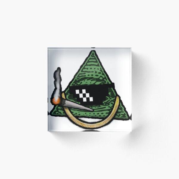 Pyramid thug life Acrylic Block