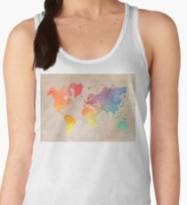 World Map maps Women's Tank Top