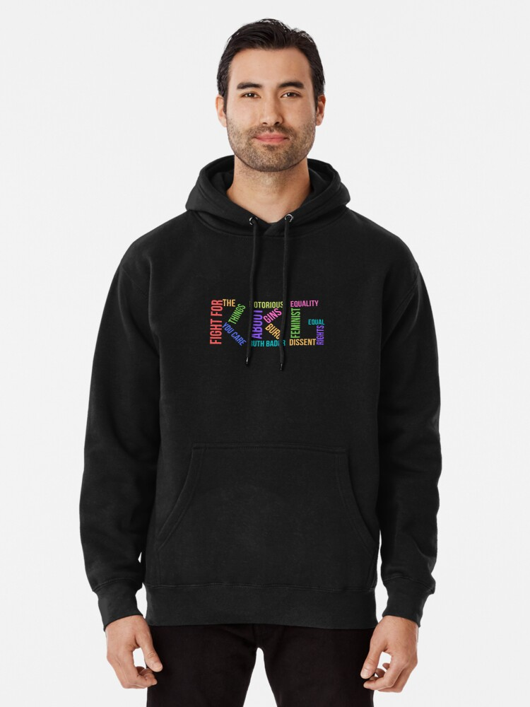 Alternate view of RBG Ruth Bader Ginsburg Pullover Hoodie