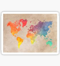 World Map maps Sticker