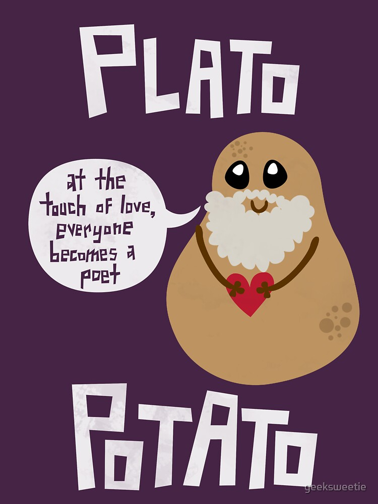 1bb5433d6f Plato Potato | Unisex T-Shirt, a t-shirt of potato, kawaii ...