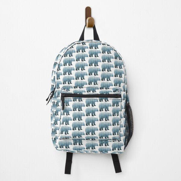 Misty Forest Bear - Turquoise Backpack