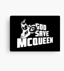 God Save McQueen Canvas Print