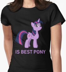 Twilight Sparkle Is Best Pony - MLP FiM - Brony Womens Fitted T-Shirt