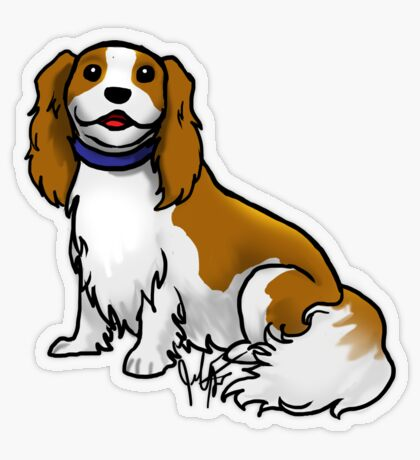 King Charles Cavalier Terrier Transparent Sticker