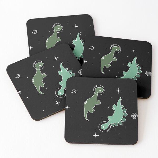 Dino-astronaut Coasters (Set of 4)