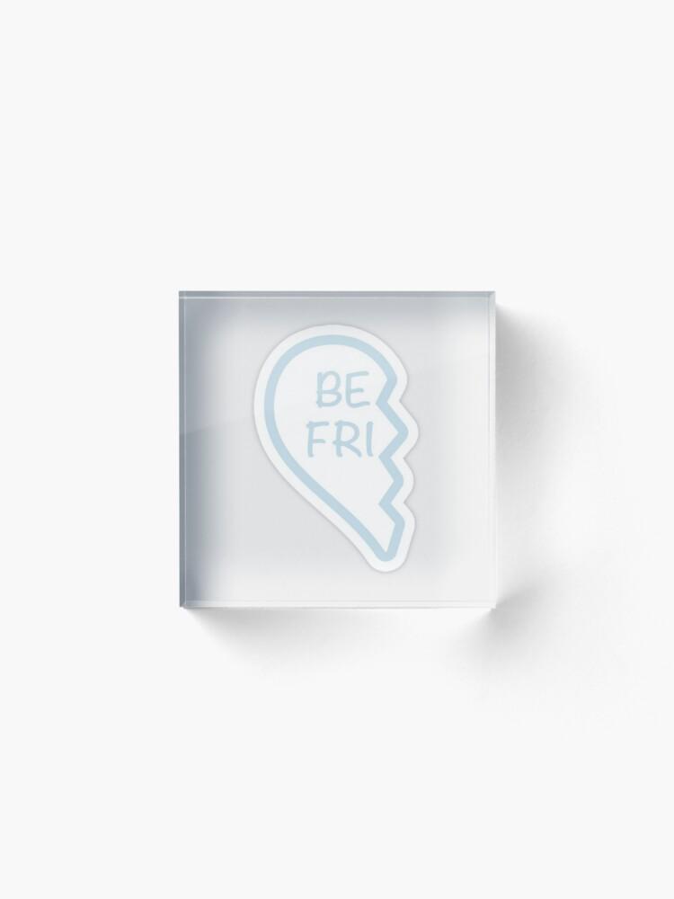 Alternate view of Best friend heart 1 Acrylic Block