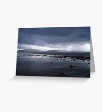 Blue grey clouds as Atlantic storm approaches. Greeting Card