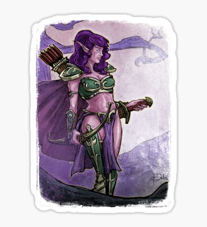 Elf Huntress Sticker