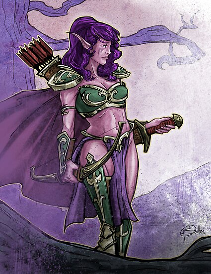 Elf Huntress by Patrick Scullin