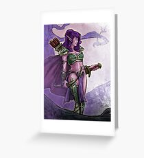 Elf Huntress Greeting Card