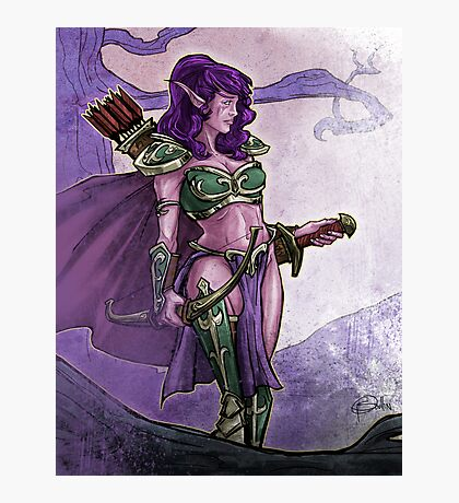 Elf Huntress Photographic Print