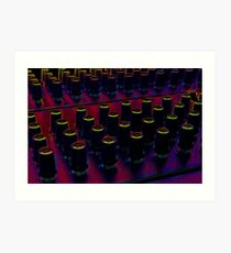 The Glow of Synthesizer Knobs Art Print