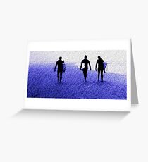 Surfers, Ocean Beach San Francisco Greeting Card