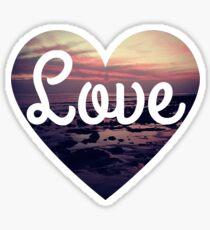 Love the beach tumblr surfing sunset heart  Sticker