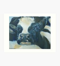 You Can Lean on Me Too --- Cow portrait Art Print