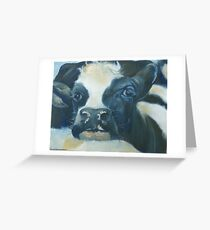 You Can Lean on Me Too --- Cow portrait Greeting Card