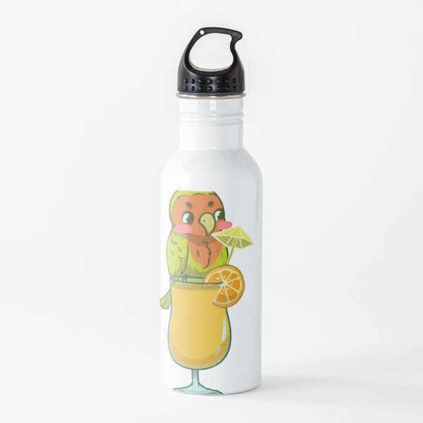 Lovebird with Orange Juice Water Bottle