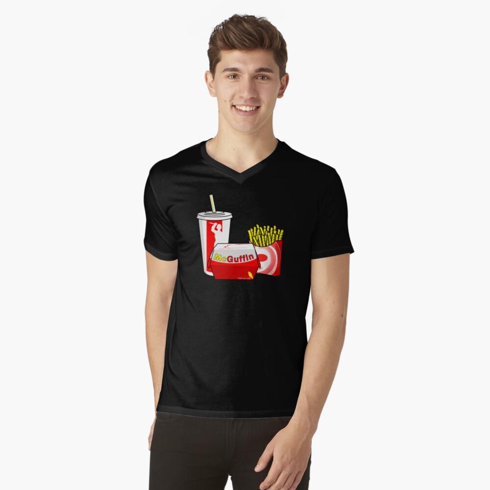 McGuffin Mens V-Neck T-Shirt Front