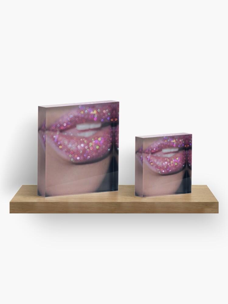 Alternate view of KISS KISS Acrylic Block