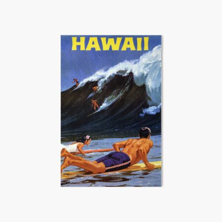 Hawaii Vintage Travel Poster Restored Art Board Print