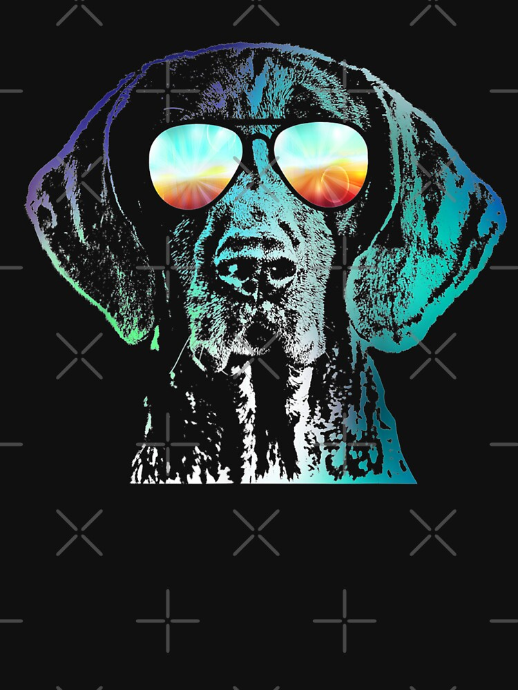 German Shorthaired Pointer Neon Dog by BrunoCotilla