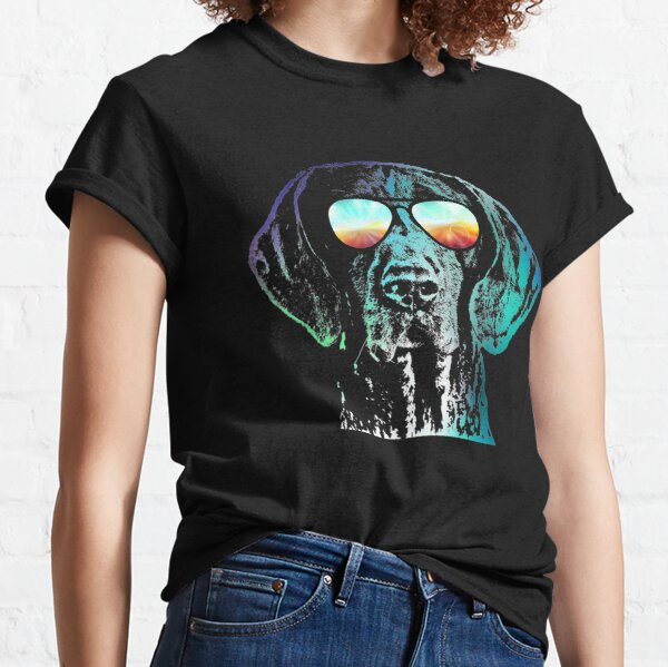German Shorthaired Pointer Neon Dog Classic T-Shirt