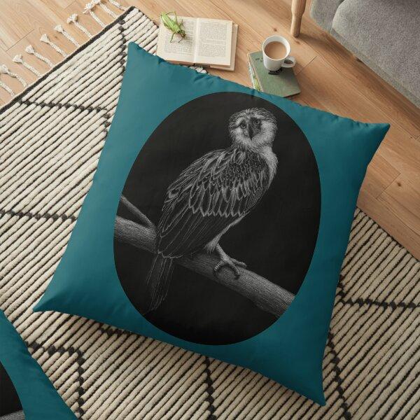 Bayani, a Philippine Eagle Floor Pillow