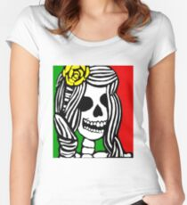 Rasta skeleton girl. Women's Fitted Scoop T-Shirt