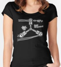 BTTF: Flux capacitor Women's Fitted Scoop T-Shirt