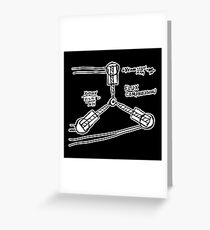 BTTF: Flux capacitor Greeting Card