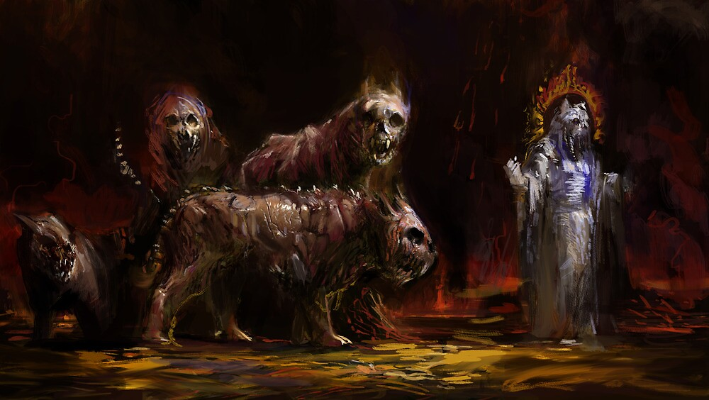 Daemonic Cats of Gagh Shekalah by Mitchell Nolte
