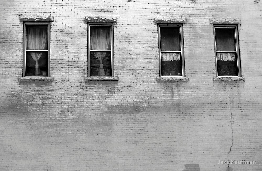 B&W Windows in the Wall by Jake Kauffman