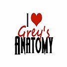Grey's Anatomy: I Heart Grey's Anatomy - Iphone Case  by sullat04