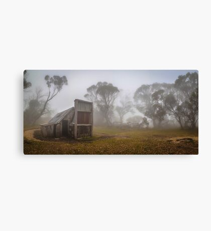 Wallaces Hut Colour Panorama Canvas Print