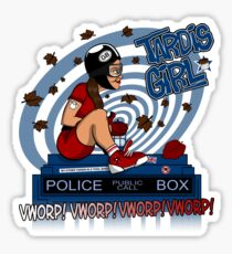 Tardis Girl Sticker
