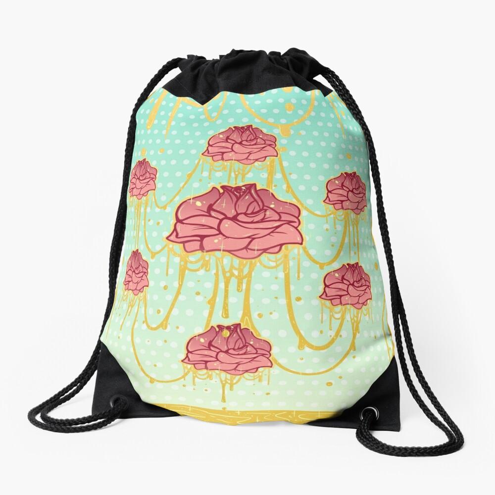 Honey Roses Drawstring Bag