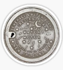 Crescent City Water Meter Cover Sticker