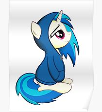 Vinyl Scratch - Lost in Thought Print Poster