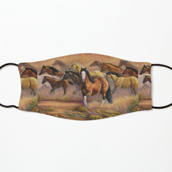 Horse Team Mountain Art Kids Mask