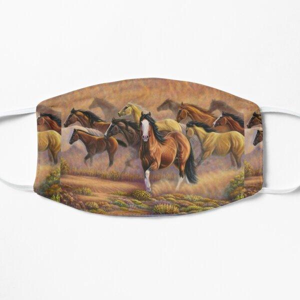 Horse Team Mountain Art Mask