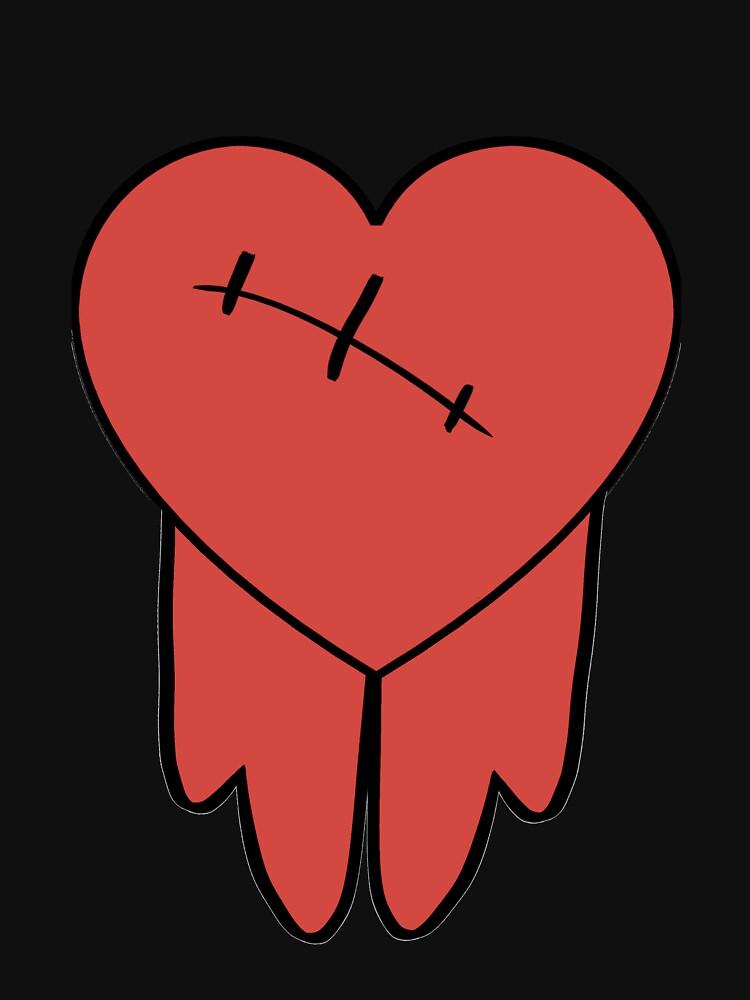 Robbie cosplay hoodie bleeding heart | Hoodie (Zipper)