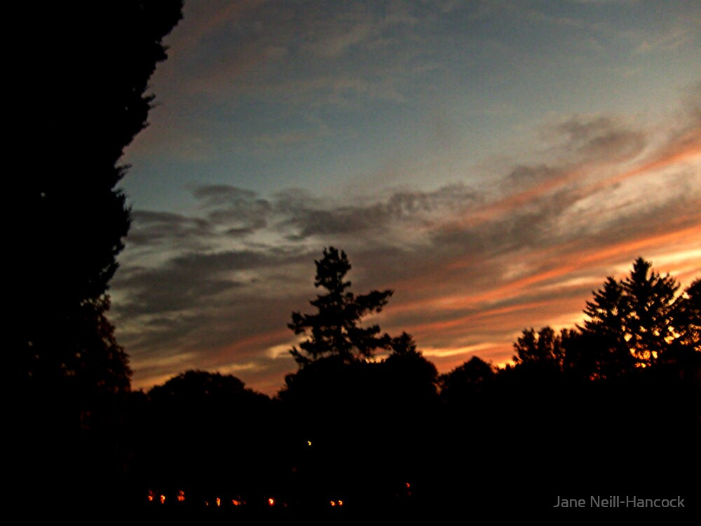 October Sunset Over Sleepy Hollow Cemetery, NY  by Jane Neill-Hancock