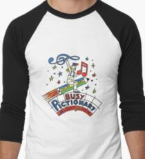 Busy Pictionary Ed Banger Records Men's Baseball ¾ T-Shirt
