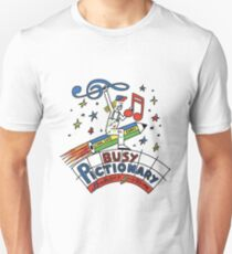 Busy Pictionary Ed Banger Records T-Shirt