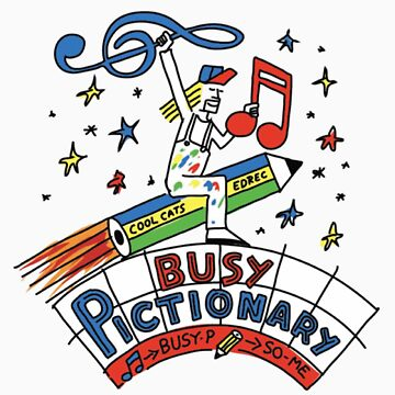 Busy Pictionary Ed Banger Records by Tombe-Stone