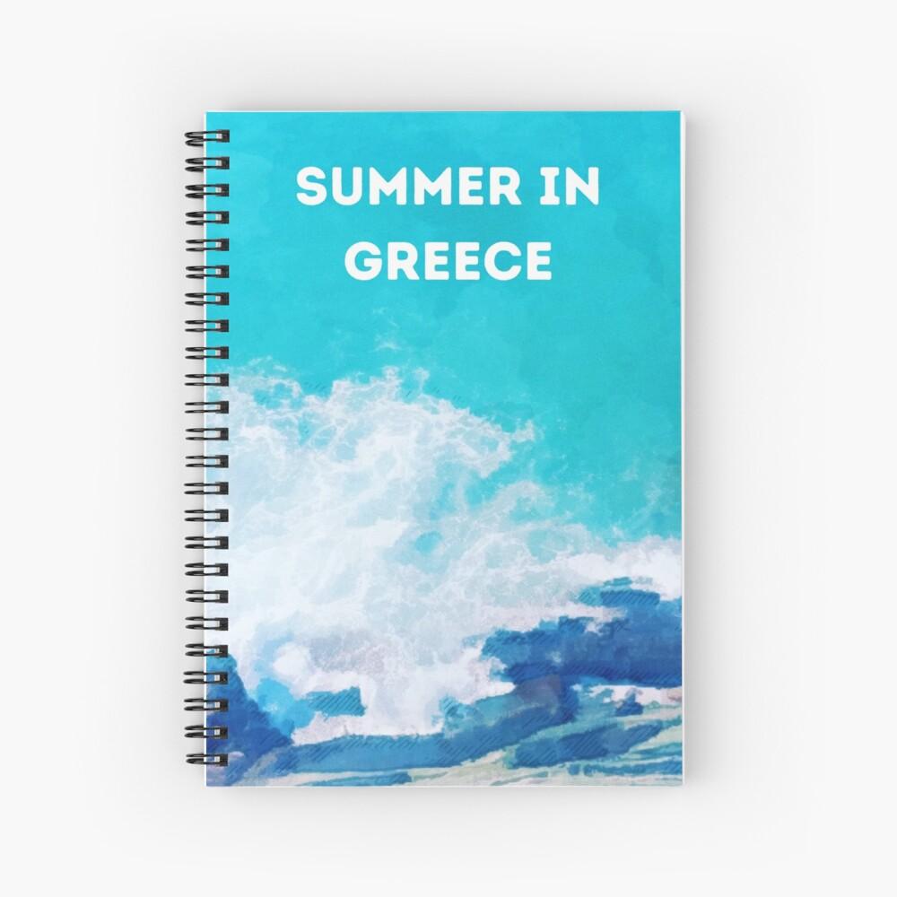 Summer in Greece Spiral Notebook