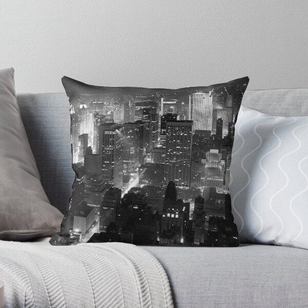 Sleepless In Manhattan Throw Pillow