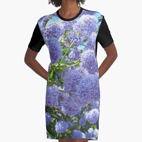 Blue Flowers ... Graphic T-Shirt Dress